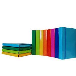 Cartelle portaprogetto con elastico in carta plastificata