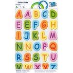 Numeri e lettere su fogli adesivi