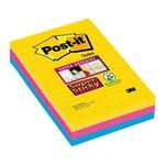 Foglietti Post-it  Super Sticky Formato XXL a righe
