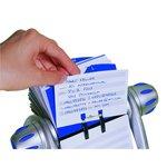 Schedario rotativo con schede prestampate Telindex  flip