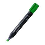 Marcatore Lumocolor Permanent 350  - punta a scalpello - tratto da 2,0 a 5,0mm  - verde - Staedtler
