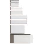 Portaetichette adesive Ies A2 - 32x88 mm - grigio - Sei Rota - conf. 8 pezzi