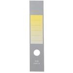 Copridorso CDR S - carta autoadesiva - giallo - 7x34,5 cm - Sei Rota - conf. 10 pezzi