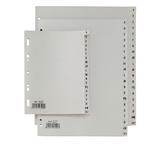Separatore alfabetico A/Z Record R - PPL - 24,5x30 cm - A4 maxi - grigio - Sei Rota