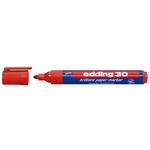 Marcatore a basa d\acqua 30 - punta tonda da 1,5mm a 3,0mm - rosso - Edding
