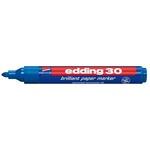 Marcatore 30 a base d\acqua - punta tonda da1,5mm a 3,0mm  - blu - Edding