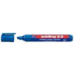 Marcatore 33 a base d\acqua - punta scalpello da 1,0mm a 5,0mm  - blu - Edding