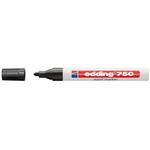 Marcatore 750 - nero - inchiostro permanente - punta da 2,0 a 4,0mm - Edding
