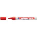 Marcatore permanente a vernice 750 - punta da 2,0 a 4,0mm - rosso - Edding