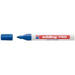 Marcatore permanente a vernice 750 - punta da 2,0 a 4,0mm - blu - Edding