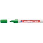 Marcatore 750 - verde - inchiostro permanente - punta da 2,0 a 4,0mm - Edding