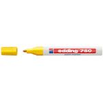 Marcatore 750 - giallo - inchiostro permanente - punta da 2,0 a 4,0mm - Edding