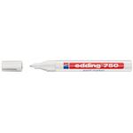 Marcatore 750 - bianco - inchiostro permanente - punta da 2,0 a 4,0mm - Edding