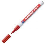 Marcatore permanente a vernice 751 - punta da 1,0 a 2,0mm - rosso - Edding