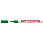 Marcatore permanente a vernice 751 - punta da 1,0 a 2,0mm - verde - Edding