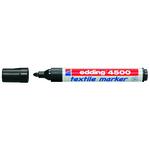 Marcatore per tessuto 4500  - punta tonda da 2,00 -3,00mm - nero - Edding