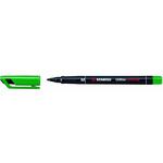 Pennarello OHPen universal permanente 843 - punta media 1,0mm - verde - Stabilo