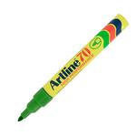 Marcatore Artline permanent markers A 70 - punta tonda 1,5mm - verde - Artiline