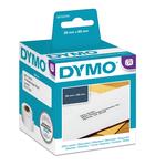 Rotolo 130 etichette LW 990100 - 28x89 mm - carta - indirizzi standard - bianco - Dymo - conf. 2 rotoli