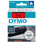 Nastro D1 409170 - 9 mm x 7 mt - nero/rosso - Dymo