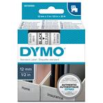 Nastro D1 - 450100 - 12mmx7mt - nero/trasparente - Dymo