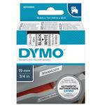 Nastro D1 458030 - 19 mm x 7 mt - nero/bianco - Dymo