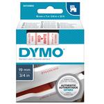 Nastro D1 458050 - 19 mm x 7 mt - rosso/bianco - Dymo