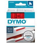 Nastro D1 - 458070 - 19mmx7mt - nero/rosso - Dymo