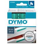 Nastro D1 - 458090 - 19mmx7mt - nero/verde - Dymo