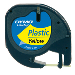 Nastro Letratag 912020 - in plastica - 12 mm x 4mt - giallo - Dymo