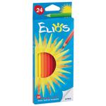 Matita colorante Elios - esagonale e mina 2,8mm - Fila - astuccio 24 colori