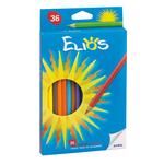 Matita colorante Elios - esagonale e mina 2,8mm - Fila - astuccio 36 colori