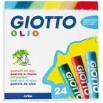 Pastelli a olio - lunghezza 70mm con Ø 11mm - colori assortiti - Giotto - astuccio 24 colori