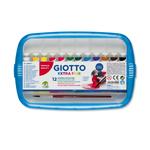 Astucci tubi tempere - 12ml - colori assortiti - Giotto - box da 12 tubetti