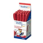 Penna a sfera - punta 1,0mm - rosso  - Tratto - conf. 50 pezzi