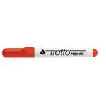 Pennarello a secco Tratto Memo per lavagne cancellabili  - punta conica -  tratto 2,5mm - rosso - Tratto