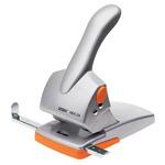 Perforatore HDC65 - massimo 65 fogli - 2 fori - passo 8 cm - grigio/arancio - Rapid