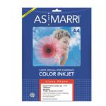 Carta fotografica Inkjet - A4 - 265 gr - effetto lucido - bianco - As Marri - conf. 10 fogli