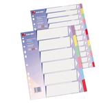 Separatore - cartoncino 225 gr - 12 tasti colorati - A4 - multicolore - King Mec