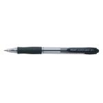 Penna a sfera a scatto Super Grip - nero - punta fine 0,7mm - Pilot