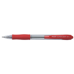 Penna a sfera a scatto Super Grip  - punta fine 0,7mm - rosso - Pilot