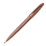 Pennarello Sign Pen S520 punta feltro - punta 2,00mm - marrone - Pentel