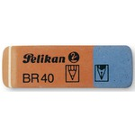 Gomma BR40 - blu e rossa - Pelikan - conf. 40 pezzi