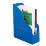Portariviste Magazine Rack Jumbo - 25x32 cm - dorso 10 cm - blu - Rexel