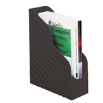 Portariviste Magazine Rack Jumbo - 25x32 cm - dorso 10 cm - nero - Rexel