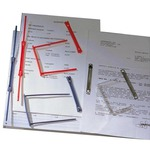Fastener fermafogli Data Clip - per tabulati - plastica - blu - King Mec - conf. 100 pezzi