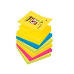Ricariche di foglietti Post-it® Super Sticky Z-Notes colorate