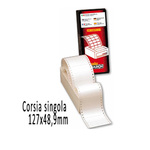 Etichette a modulo continuo S615 - 127x48,9 mm - corsia singola - permanente - bianco - Markin - scatola da 3000 etichette