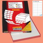 Etichetta adesiva C501 - permanente - 105x36 mm - 16 etichette per foglio - bianco - Markin - scatola 100 fogli A4