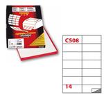 Etichetta adesiva C508 - permanente - 105x42 mm - 14 etichette per foglio - bianco - Markin - scatola 100 fogli A4